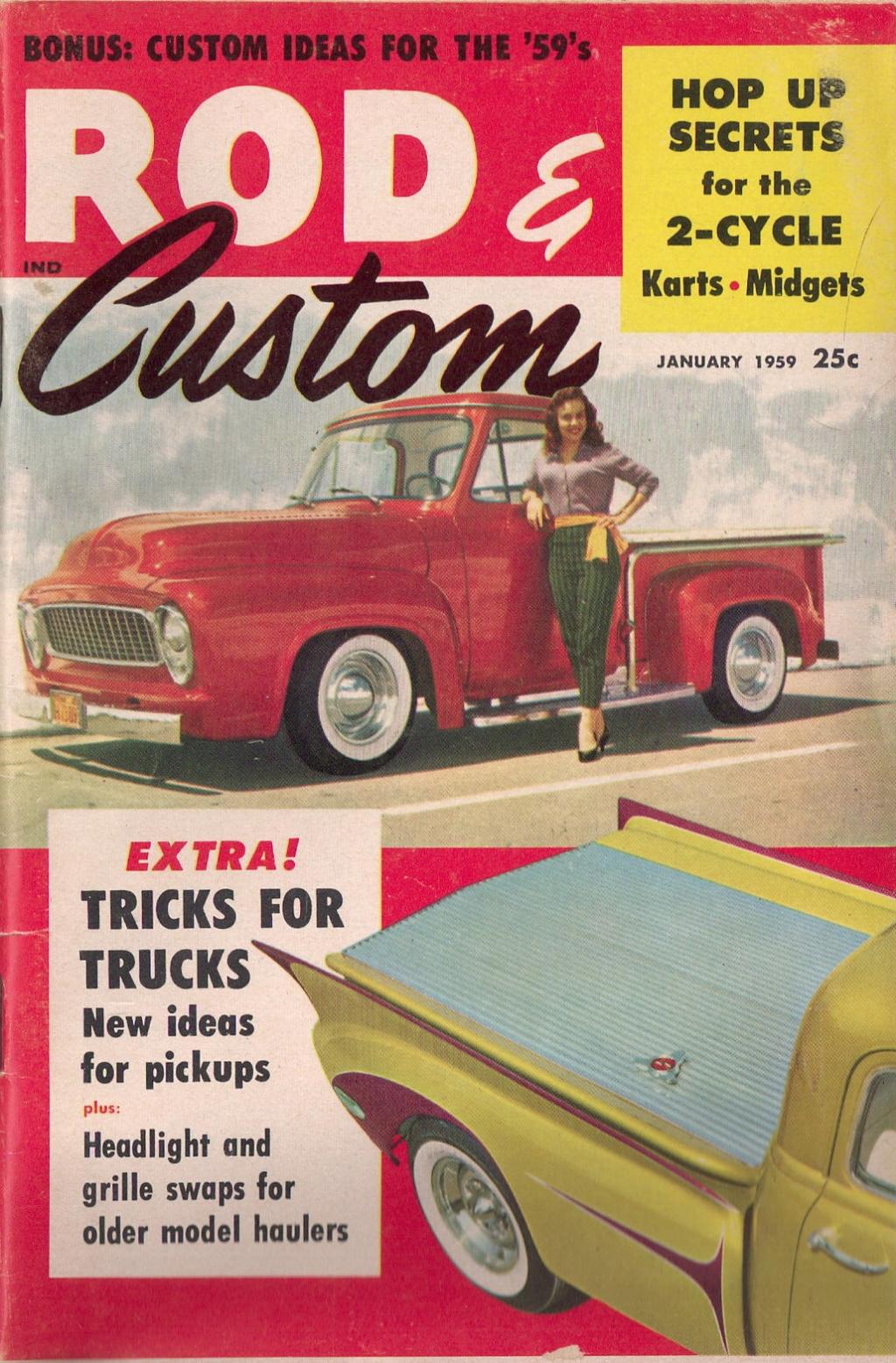 Rod et Custom - January 1959 - Tricks for Trucks - new ideas for pick up Cover10