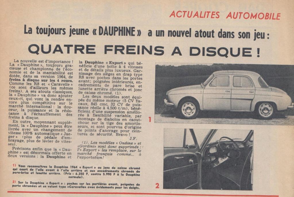 Le Journal de Tintin - de 1959 à 1964 les articles sur l'automobile et la moto Dauphi10