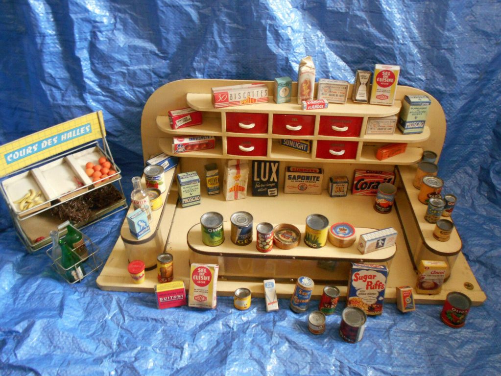 Epicerie jouet années 50 - Grocery toys vintage Ep210