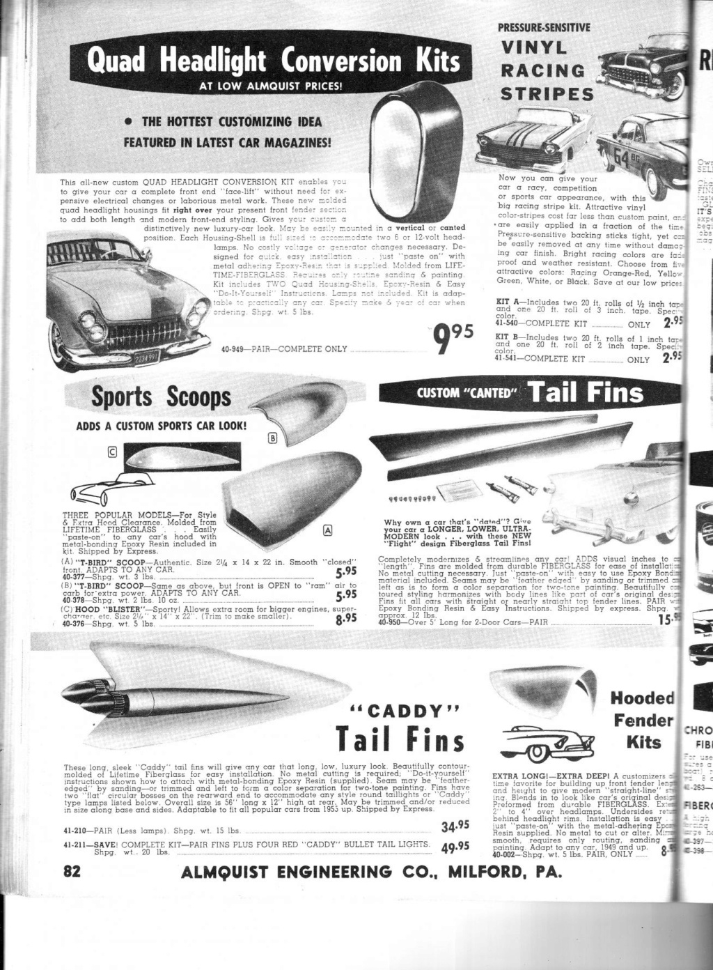 Almquist catalog, Speed, Mileage, Customizing, Performance - World's largest supplier of hi-performance equipement -  1963 Img_0011