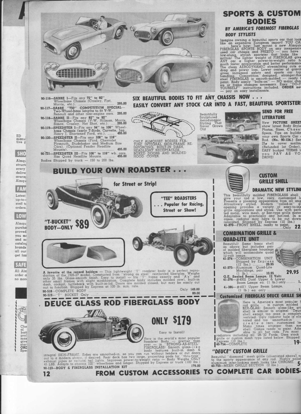 Almquist catalog, Speed, Mileage, Customizing, Performance - World's largest supplier of hi-performance equipement -  1963 Img_0012