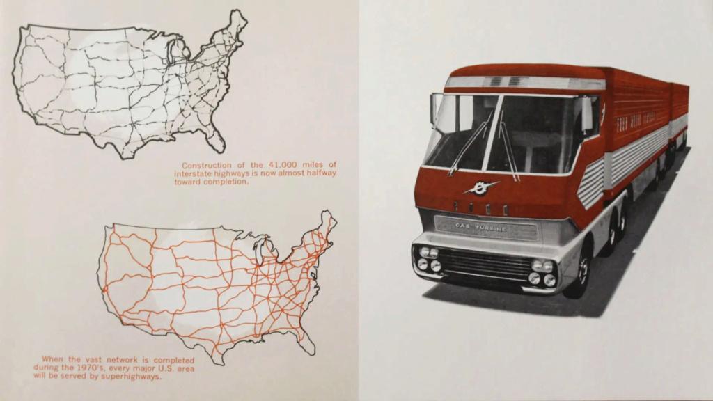 Ford Turbine-Powered Semi-Truck 'Big Red' - 1964 Messag17