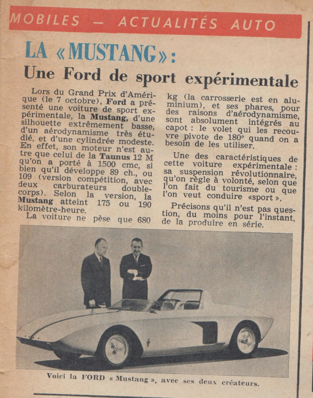 Le Journal de Tintin - de 1959 à 1964 les articles sur l'automobile et la moto Mustan10