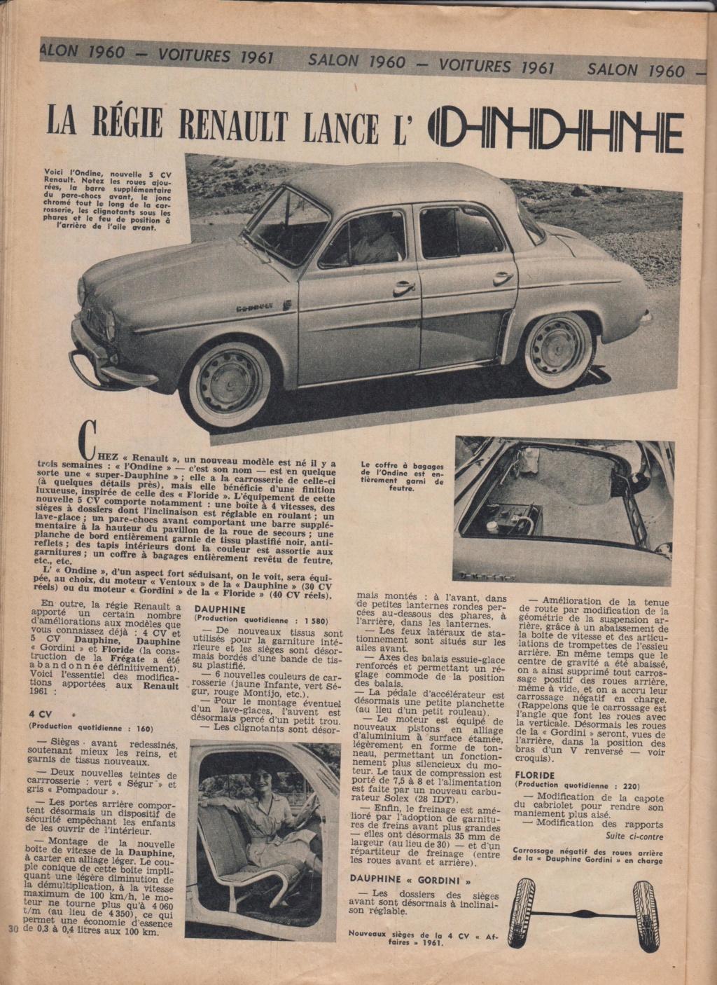 Le Journal de Tintin - de 1959 à 1964 les articles sur l'automobile et la moto Ondine10