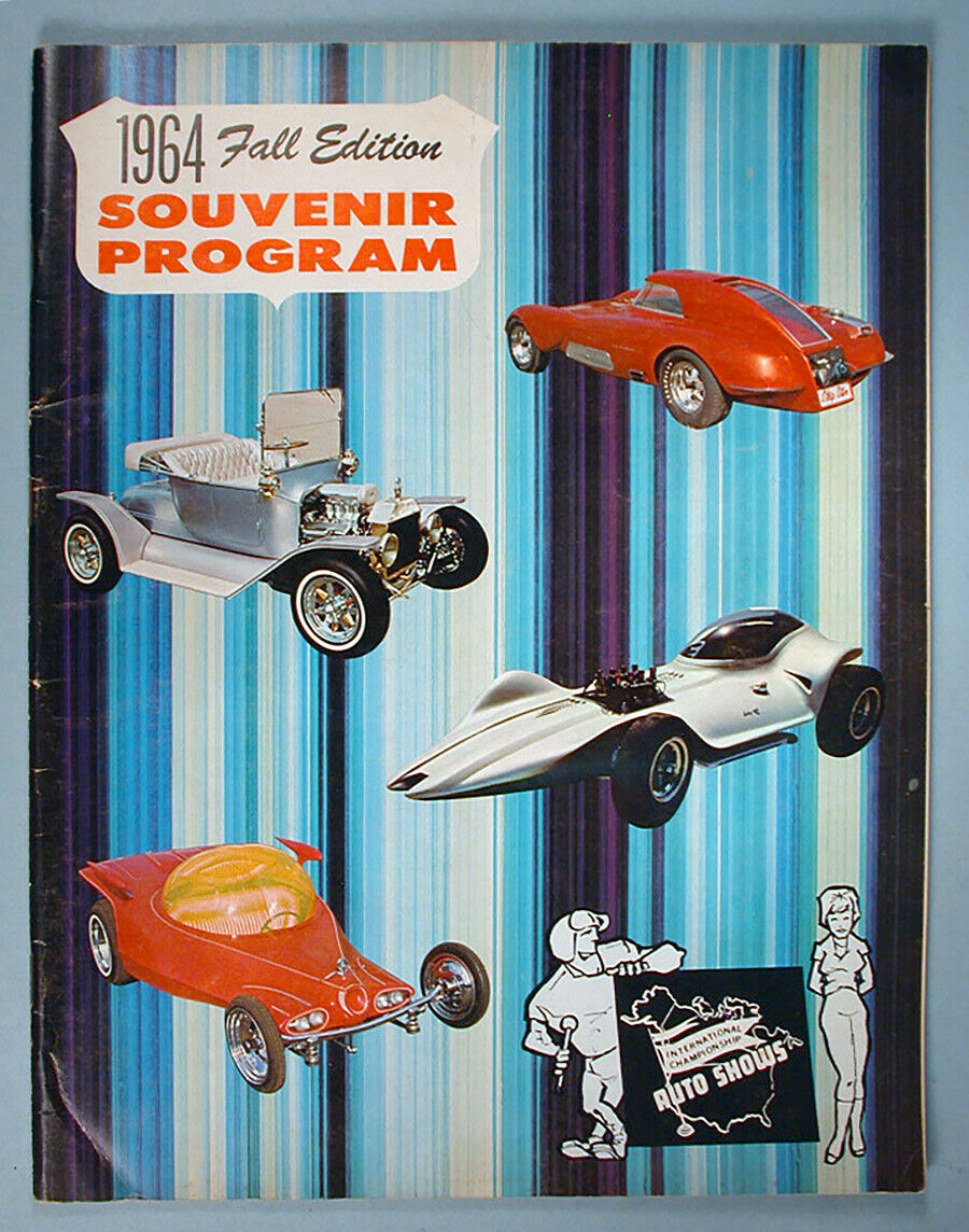 """1964 FALL EDITION"" HOT ROD & CUSTOM SOUVENIR PROGRAM - 1964 International Championship Auto Shows Prog_610"