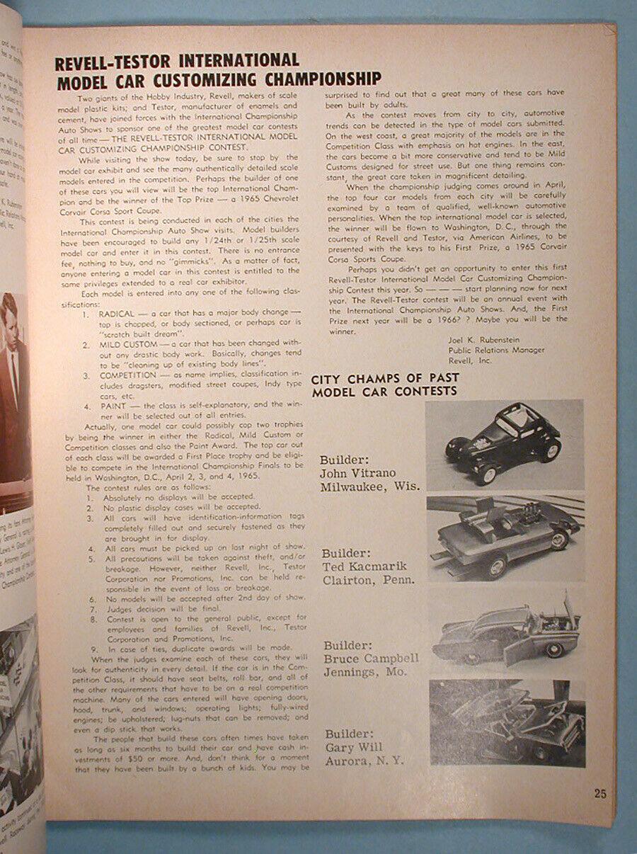 """1964 FALL EDITION"" HOT ROD & CUSTOM SOUVENIR PROGRAM - 1964 International Championship Auto Shows Prog_619"