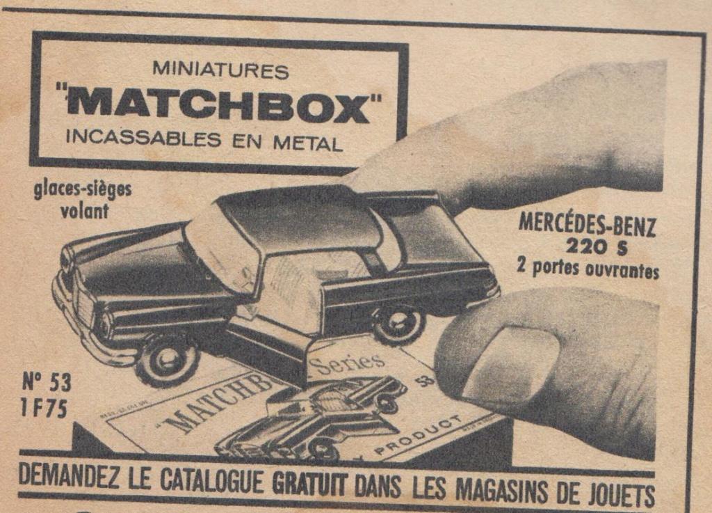 Publicités Matchbox début années 60 - Matchbox ads early 60s Pub_ma12
