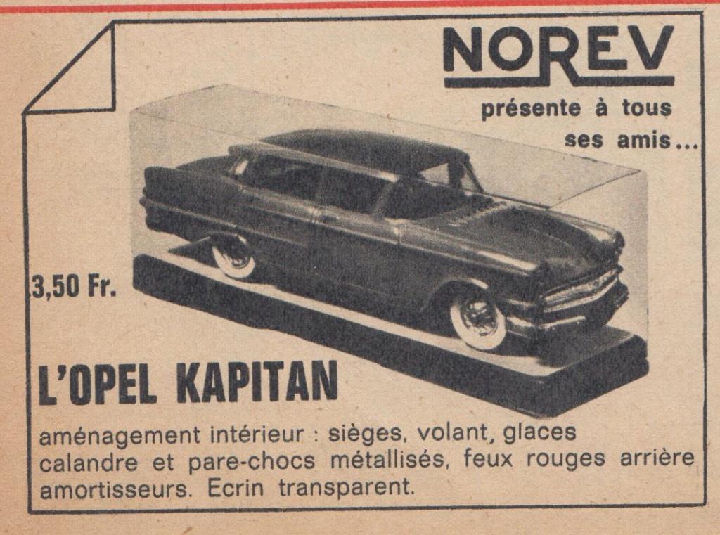Publicités Norev années 60 -  Norev Ads early 60s Pub_no12