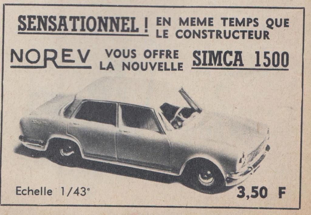 Publicités Norev années 60 -  Norev Ads early 60s Pub_no17