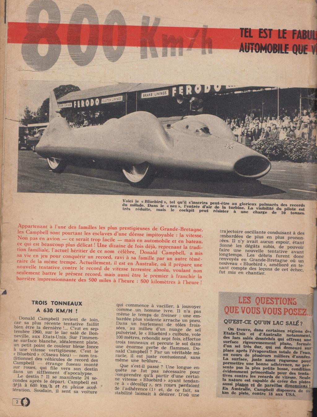 Le Journal de Tintin - de 1959 à 1964 les articles sur l'automobile et la moto Record10