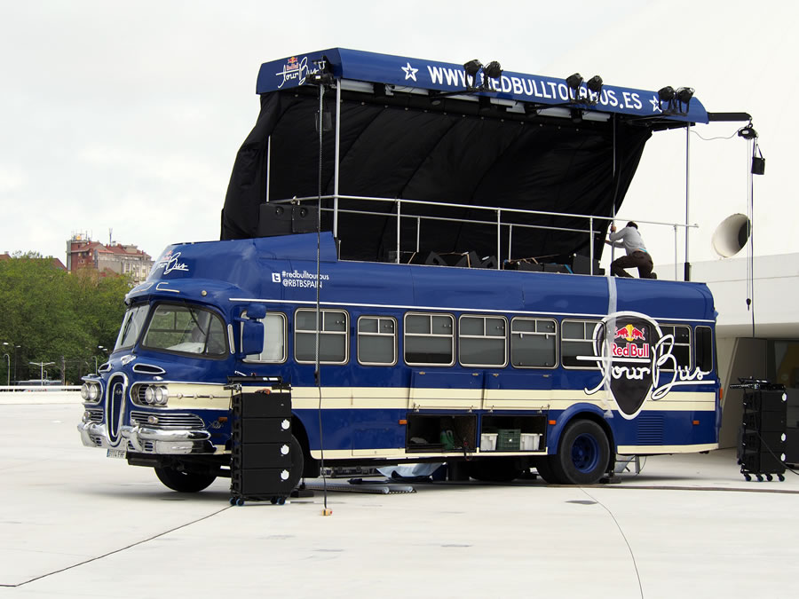 1961 Skoda Bus  - 58' Edsel look bus - modified in Spain and used as a mobile stage for Red Bull campaign  Redbul11