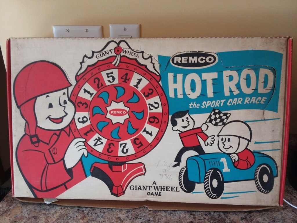 Remco Hot Rod Sport Car Race A Giant Wheel Game Remco10