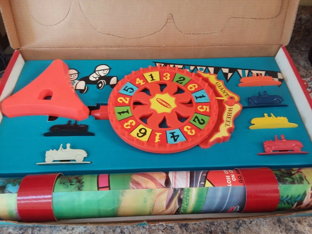 Remco Hot Rod Sport Car Race A Giant Wheel Game Remco310