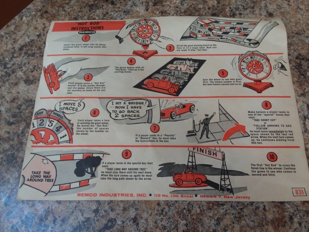Remco Hot Rod Sport Car Race A Giant Wheel Game Remco410