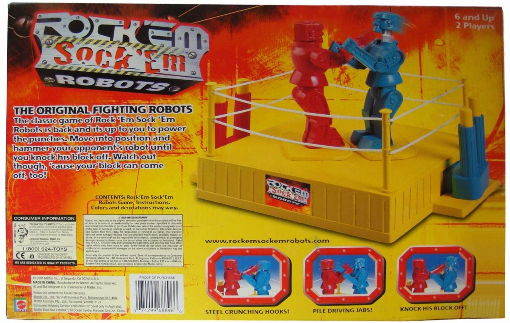 Rock 'Em Sock 'Em Robots from Marx (1966) Rockem10