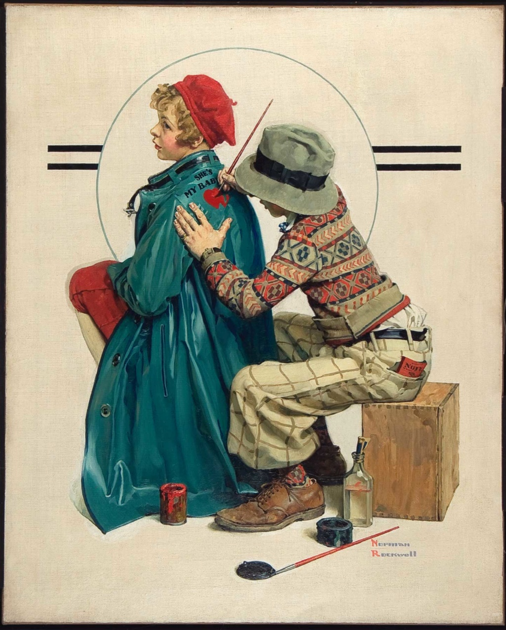 Norman Rockwell - painter (1894 -1978) Shes_m10