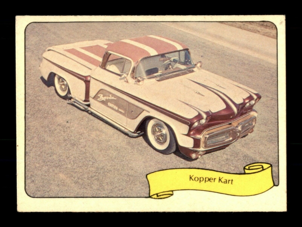 1974 Fleer Kustom cars series  - Trading cards - Hot rods, show cars, Custom cars Tc18