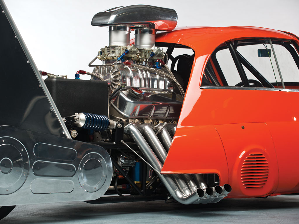 1959 Bmw Isetta Dragster - Whatta Drag - Chevy V8 Powered - Real Hot Wheels The-1913