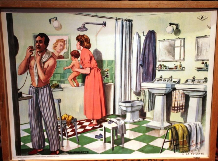 Affiches (tableaux)  pédagogiques Editions Rossignol 1946 - 1970s Toilet10