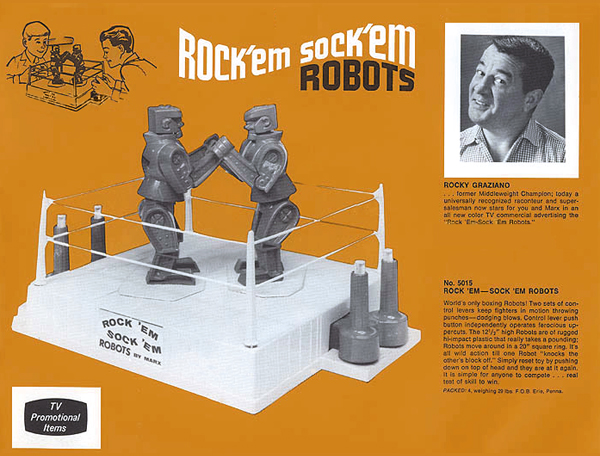 Rock 'Em Sock 'Em Robots from Marx (1966) Toyroc10