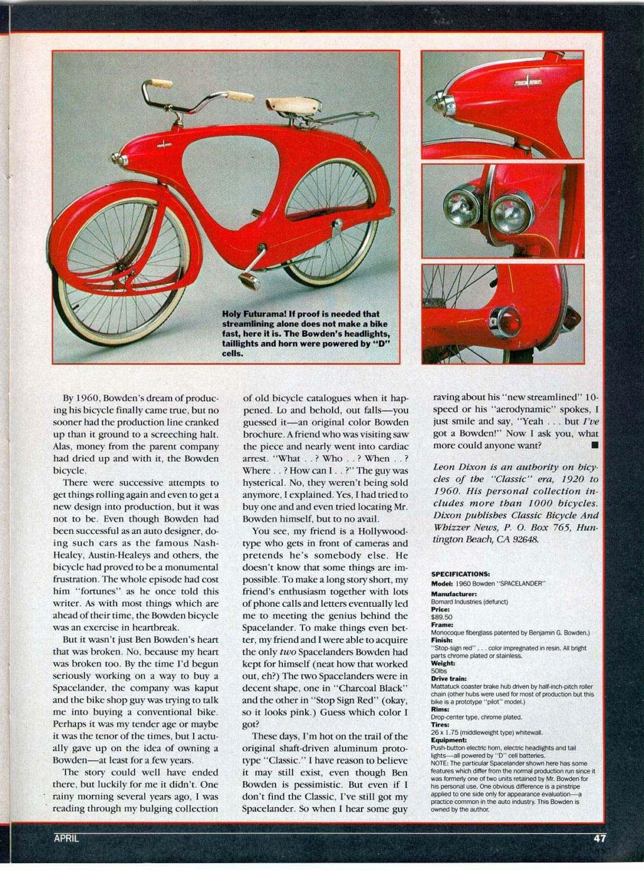bowden bicycle - Spacelander- 1951 Velo-b11
