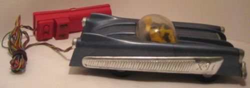 Plastic & Metal Toy X-91 Space Car Motorized USA 1950 X91a10