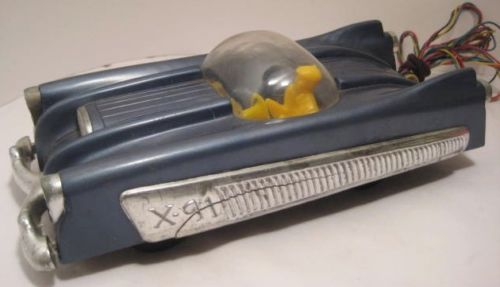 Plastic & Metal Toy X-91 Space Car Motorized USA 1950 X91az10
