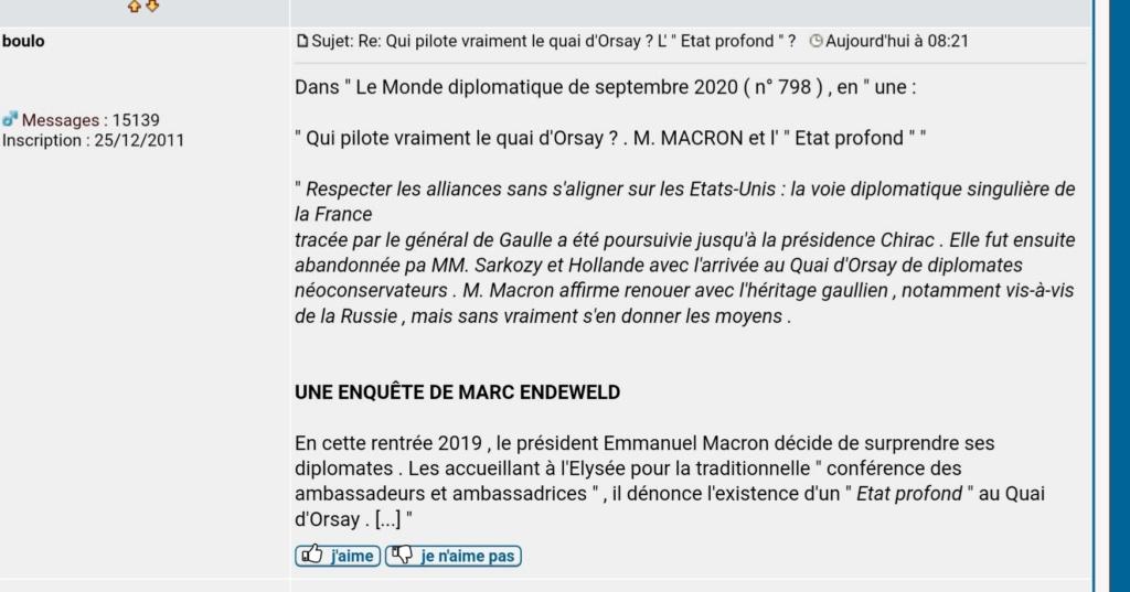 """""""L'ÉTAT PROFOND"""" c'est quoi ? - Michel Onfray 20200915"""