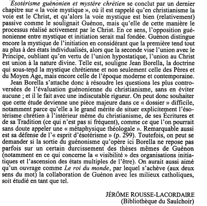 Ésotérisme et christianisme. Histoire et enjeux théologiques d'une expatriation - Jérôme Rousse-Lacordaire - Page 3 Scree105