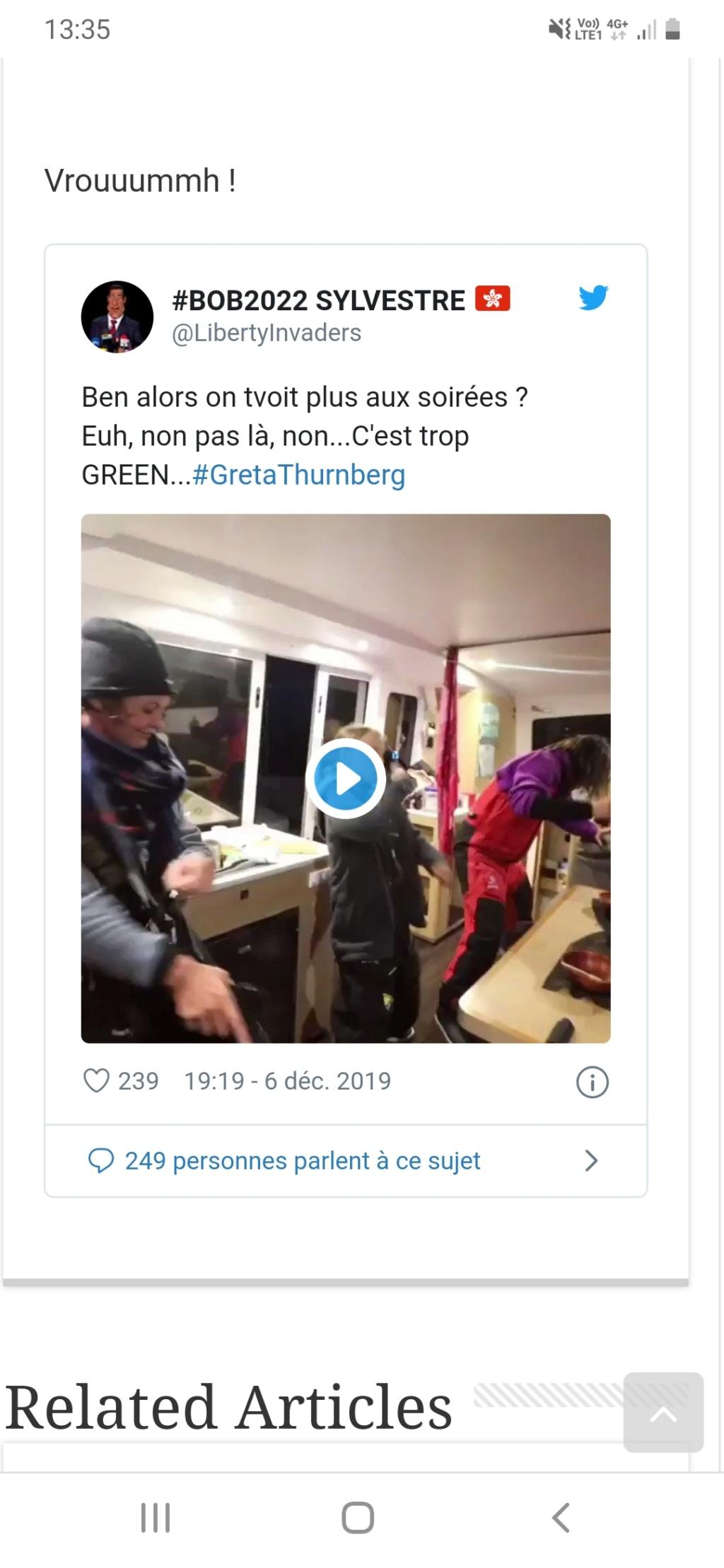 Greta Thunberg pourquoi tant de haine ? - Page 3 Screen36