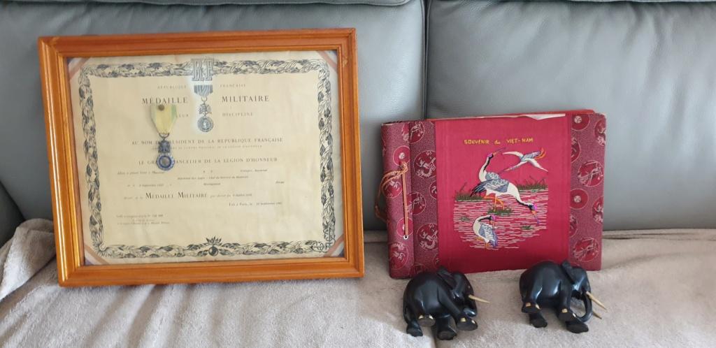 Diplôme, médaille, album photo indochine 20210512