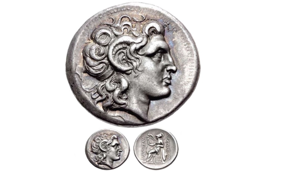 تترادرخما لملك تراقيا المقدوني ليسماخوس Oo10