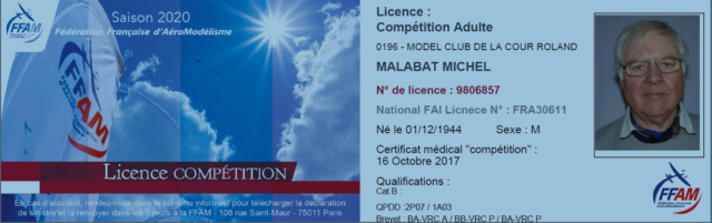 Annulation : F5J des CIGOGNES à BRETIGNY Samedi 28 mars 2020 Licenc20