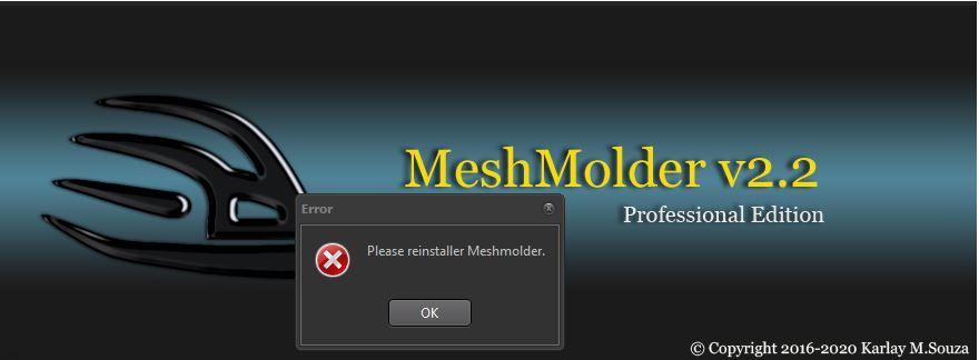 Errors in 2.2 and 2.0 Meshmo11
