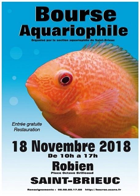 Bourse aquariophile de Saint Brieuc (18 11 2018) Affich12