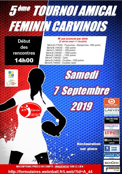 Tournoi amical féminin de rentrée de l'ATT CARVIN 07/09/19 Tourno10