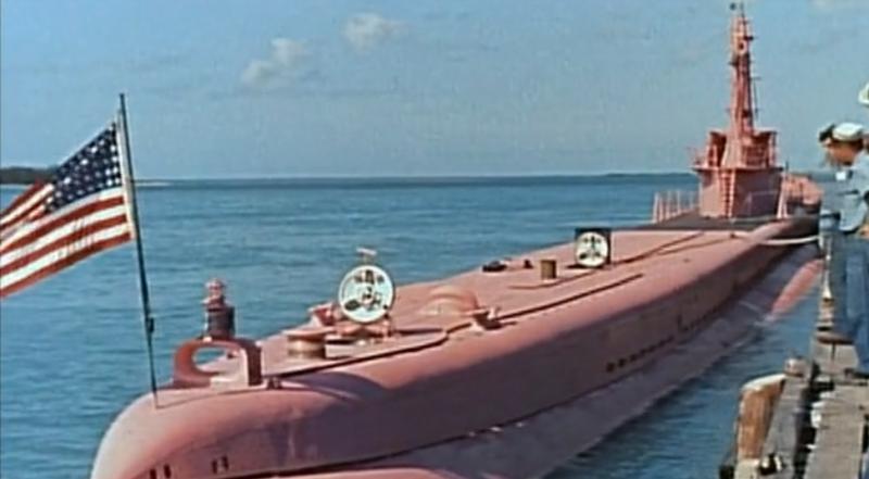 Die USS SEA TIGER aus dem Film UNTERNEHMEN Petticoat von 1959 F148t211