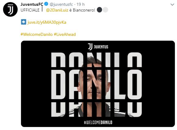 Juve-City, ufficializzato lo scambio Danilo-Cancelo Cattur18