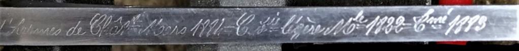 SABRE DE CAVALERIE LEGERE TROUPE MLE 1822 TRANSFORME 1883 112