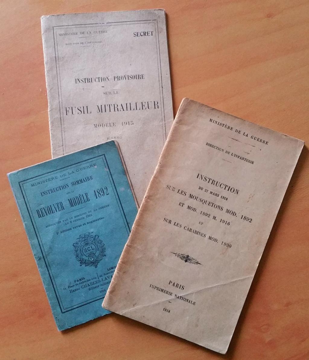 livret d'instruction FM chauchat carabine 1890 et revolver 1892 20201013