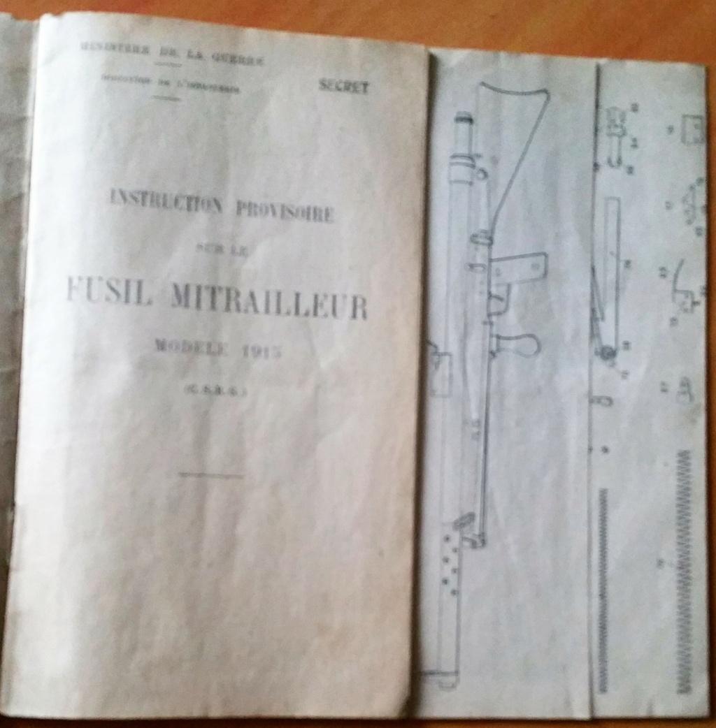 livret d'instruction FM chauchat carabine 1890 et revolver 1892 20201014