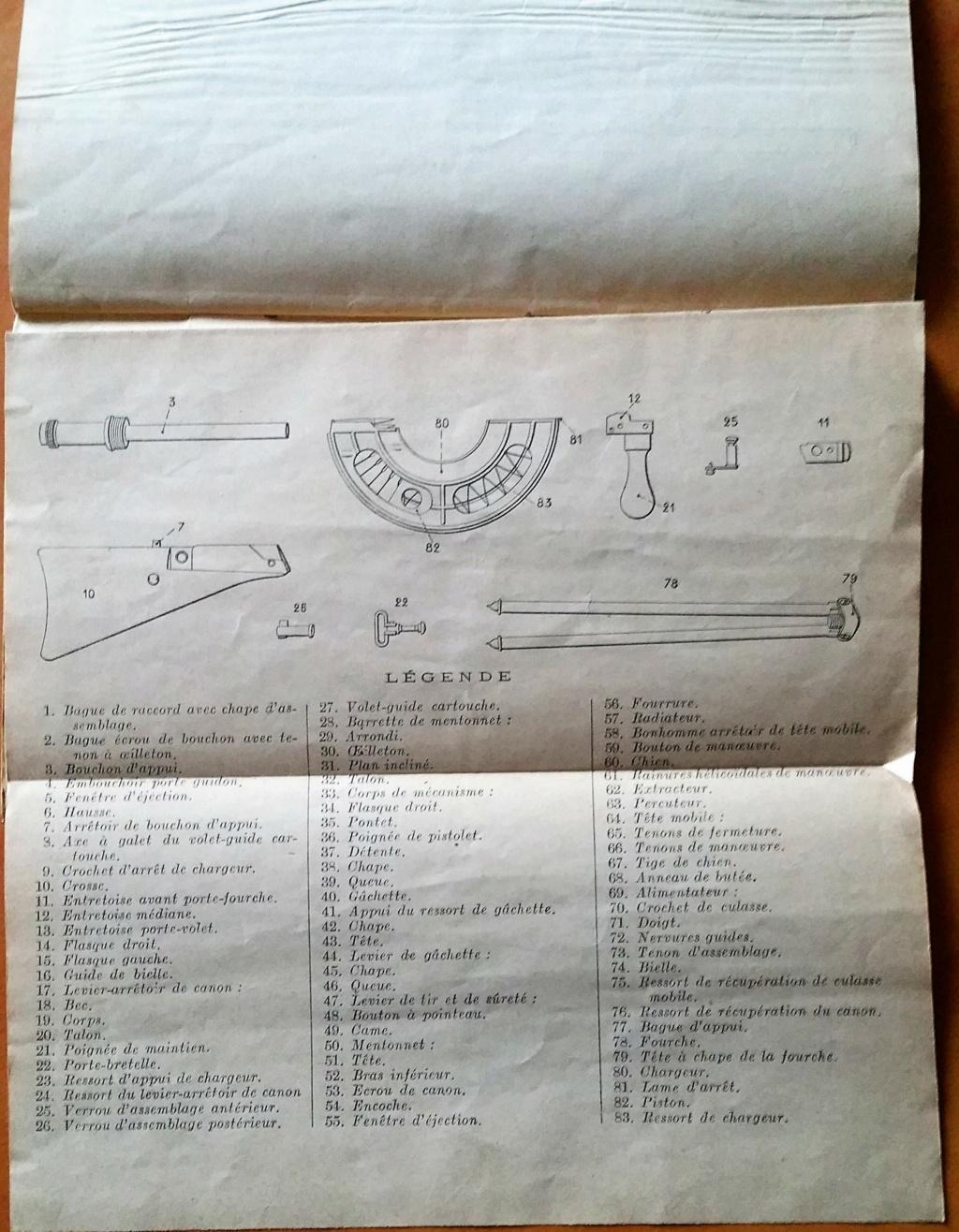 livret d'instruction FM chauchat carabine 1890 et revolver 1892 20201017