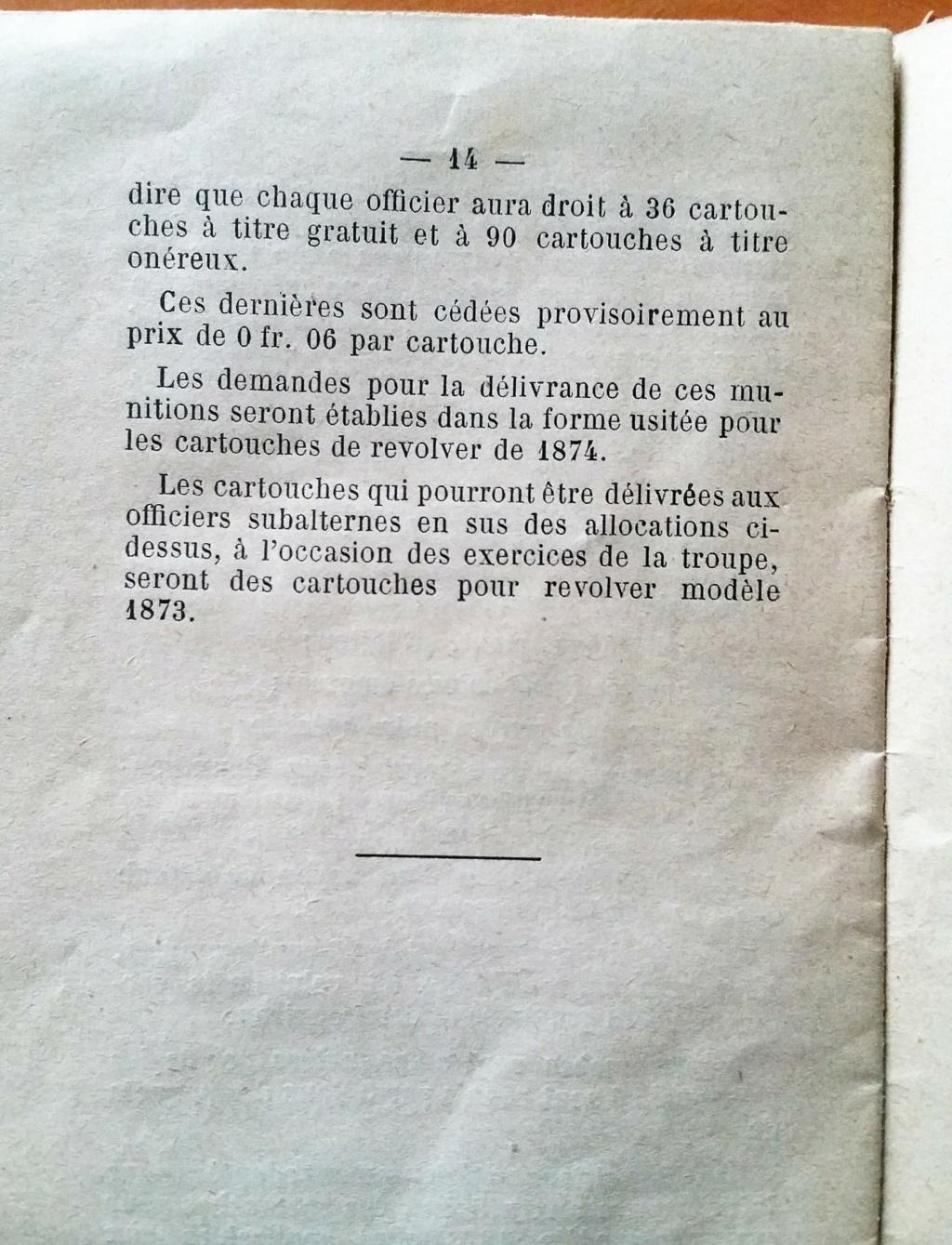 livret d'instruction FM chauchat carabine 1890 et revolver 1892 20201020