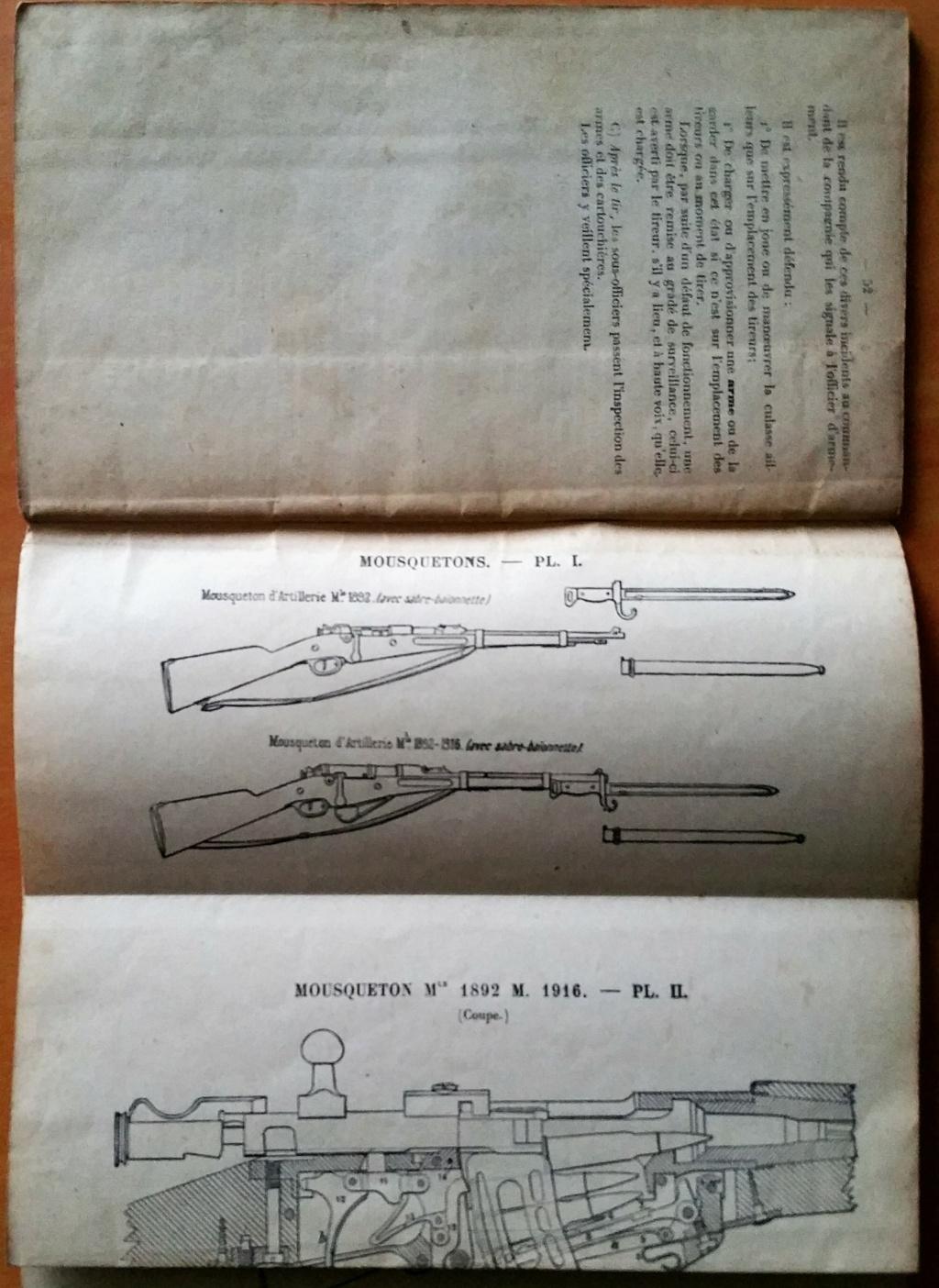 livret d'instruction FM chauchat carabine 1890 et revolver 1892 20201022