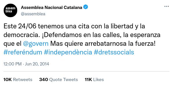 Assemblea Nacional Catalana i Òmnium Cultural - @assemblea @omnium Anctui11
