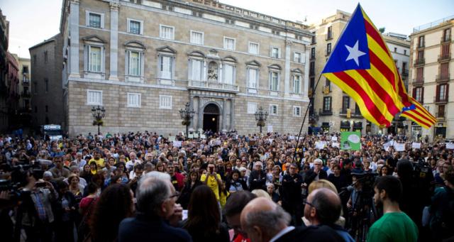 Manifestació contra la política repressiva, unionista i anti-social del Govern Mas. Educac10