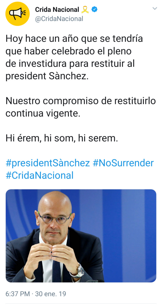 @CridaNacional   Cuenta oficial de la Crida Nacional per la República Img_2035