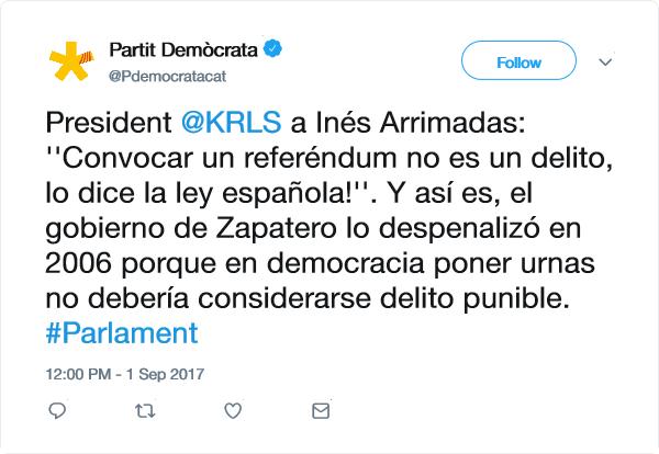 RRSS Partit Demócrata (PDeCAT) Zyndic12