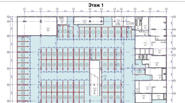 Как будет располагаться подземный паркинг в корпусах 1А и 1Б? 231