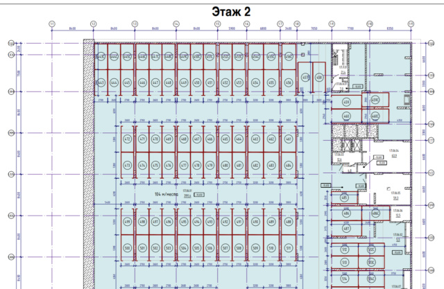 Как будет располагаться подземный паркинг в корпусах 1А и 1Б? 320